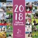 Kalendarz biurkowy z bulterierami 2018