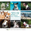 Kalendarz biurkowy z bulterierami 2019